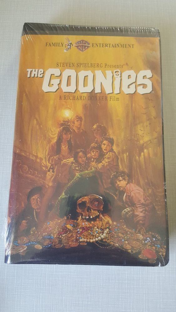 The Goonies Vhs Brand New Collector S Item Rare Clamshell Case Sealed Goonies Clamshell Collectors Item