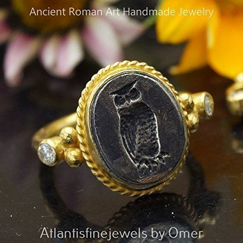 Sterling Silver 925k Ancient Greek Art 2 Tone Coin Ring Handcrafted Turkish Jewelry