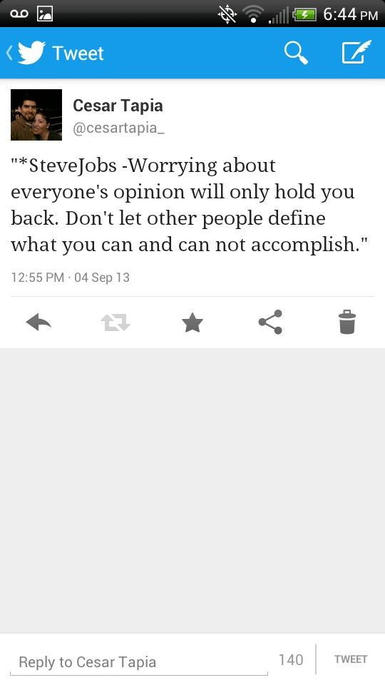 LegendSteveJobs: Worrying about everyone's opinion will only hold ...