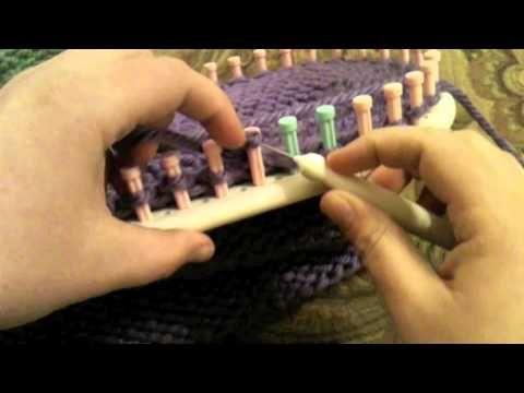 Loom Knit: Picot Edge Bind off or Cast off Martha Stewart Loom Knitting on ...
