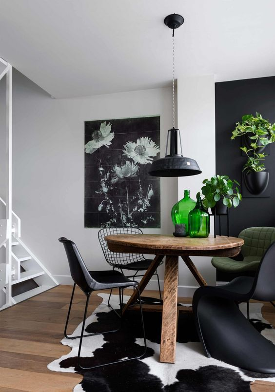 Inspiration Black And White Cowhide Rugs Black Cowhide Inspiration White Genel Black White Dining Room White Cowhide Rug Rugs In Living Room