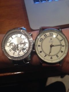 New watch and retired watch.  Love the big faces.