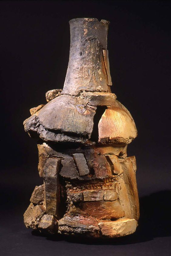Peter  Voulkos  Siguirilla, 1999  woodfired stoneware  45 x 24.5 x 22 in.:
