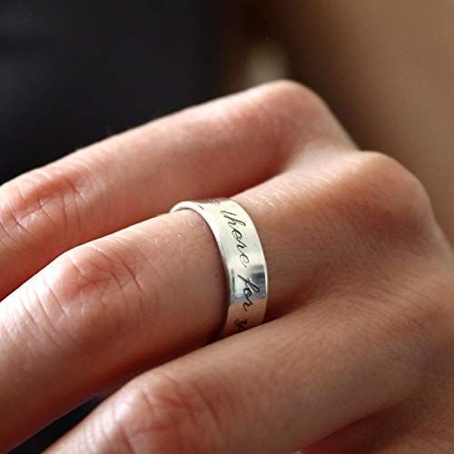 Personalize Ring Customize Ring Your Words Ring Quote Ring Inspirational Ring Personalized Ring Custom Ring Inspiring Ring Phrase Ring
