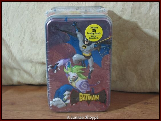THE BATMAN Cartoon Network 2004-2008 Animated 35 Trading Card Set In Sealed Tin  Junk 674  http://ajunkeeshoppe.blogspot.com/