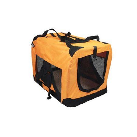 Iconic Pet Versatile Pet Soft Crate with Fleece Mat, Orange, X-Large