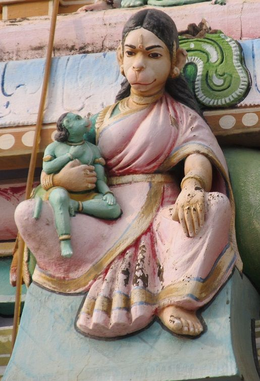 anjana devi and son hanuman.