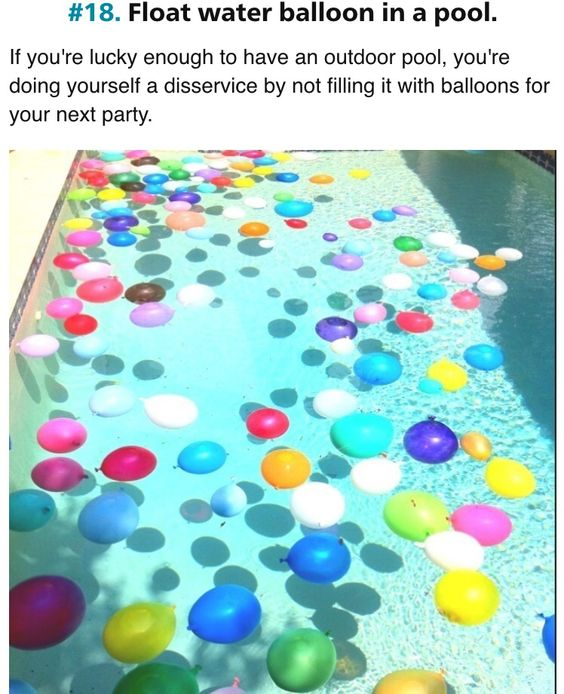 Floating Balloons in pool