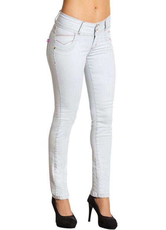 Calça skinny jeans claro