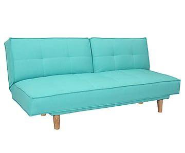 Futonbank met slaapfunctie Sandy, turquoise, B 185 cm