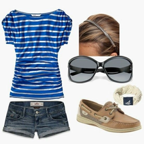 summer outfit! longer shorts though!!