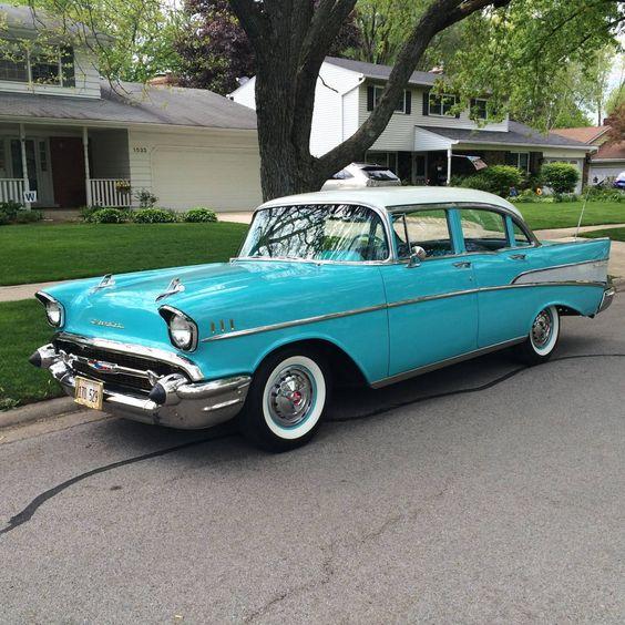 Cars sedans and chevy on pinterest for 1957 chevrolet 4 door sedan
