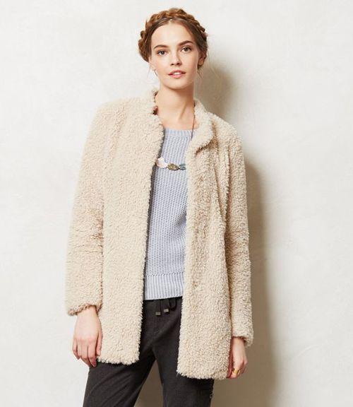 faux fur shearling coat from Anthropologie | wear | Pinterest