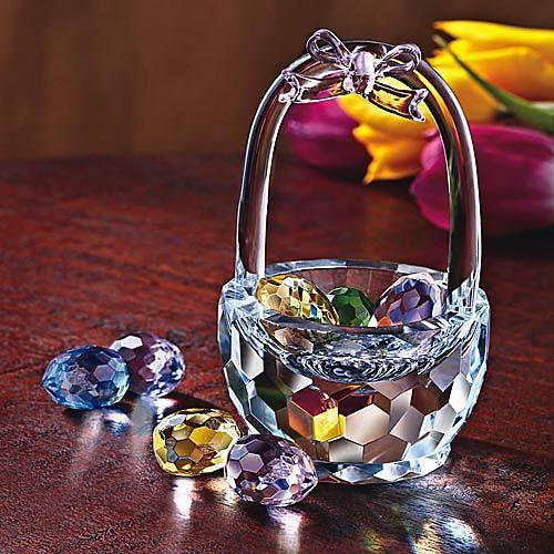 Faceted Crystal Easter Basket