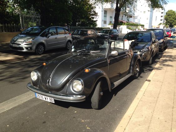 I saw that car in Arcachon last day. #Beetle #allblack