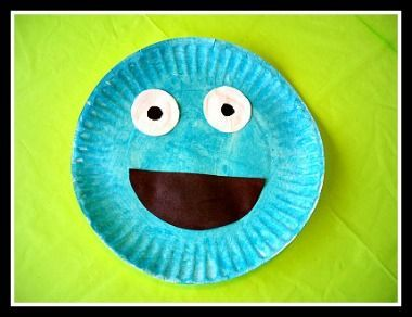 Sesame Street Paper Plate Cookie Monster Craft For Kids! Heres