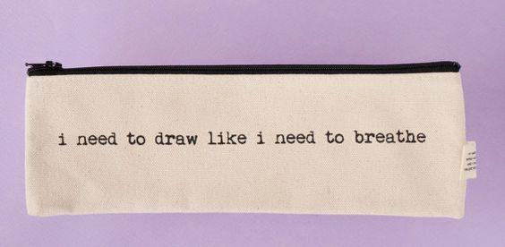 necesito dibujar como necesito respirar bolsa