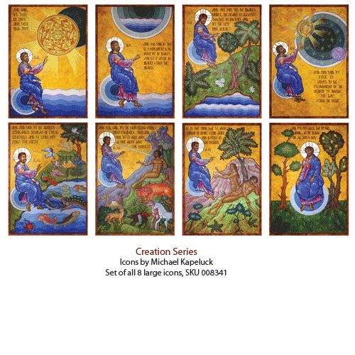 Icon series of the Creation. Beautiful!