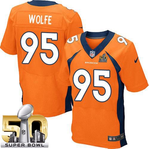 Nike Broncos #95 Derek Wolfe Orange Team Color Super Bowl 50 Men's ...