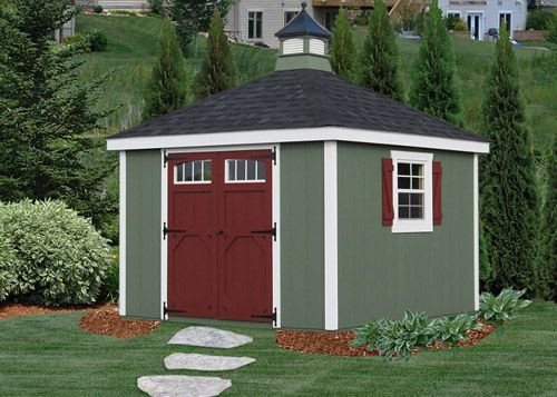 10 X 16 Vinyl New England Hip Roof Shed | Shed | Pinterest | Storage  Buildings And Storage