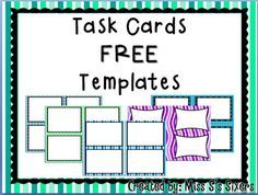 ... Task Cards on Pinterest | Task Cards, Free Task Cards and Math Task