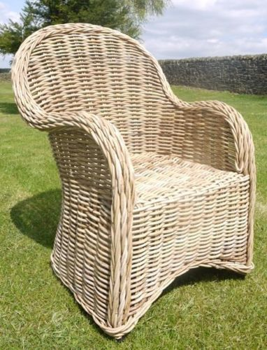 Natural Rattan Chair Like Wicker Or Willow Garden