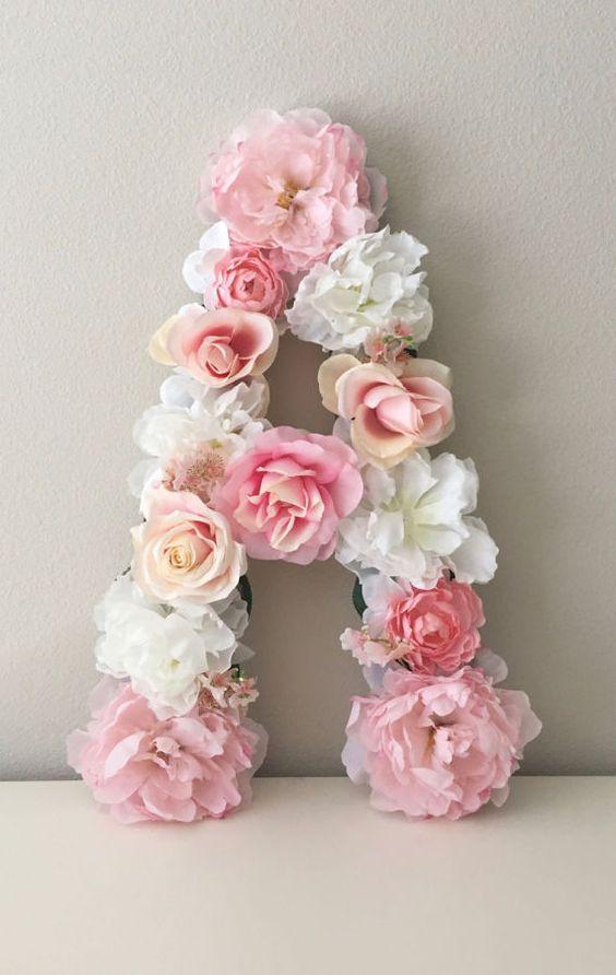 LARGE Floral Letter Custom Floral Flower Letter Floral
