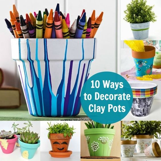 It's so fun to decorate clay pots! Here are 10 ideas - have you tried any of these crafts?:
