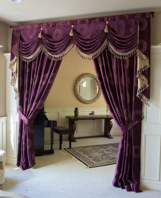 Curtains Ideas austrian valances curtains : Orchid Imperial Austrian Swag Style Swag Valance Curtain Set http ...