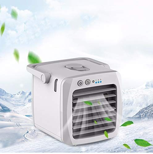 Qghead Usb Mini Portable Air Conditioner Humidifier Air Cooler Upgraded Mute With Dehumidifier Push Button Air Cooler Air Conditioning Fan Portable Air Cooler