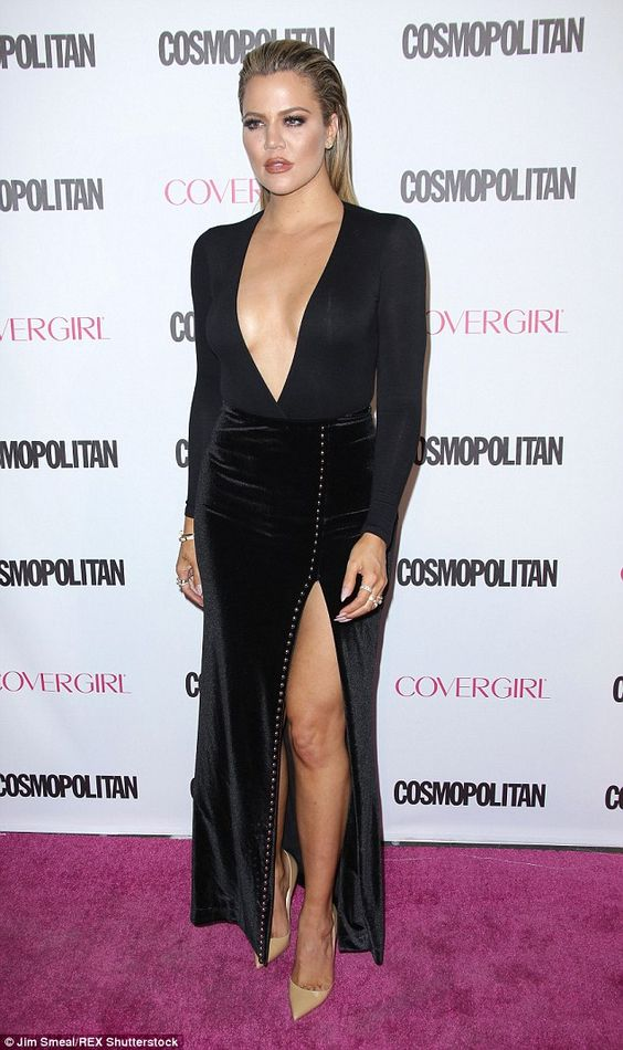 Crisis: According to TMZ, Khloe - pictured at Cosmopolitan's 50th anniversary party, just days before Lamar was rushed to hospital - is spending her time by his bedside and will help him to recover
