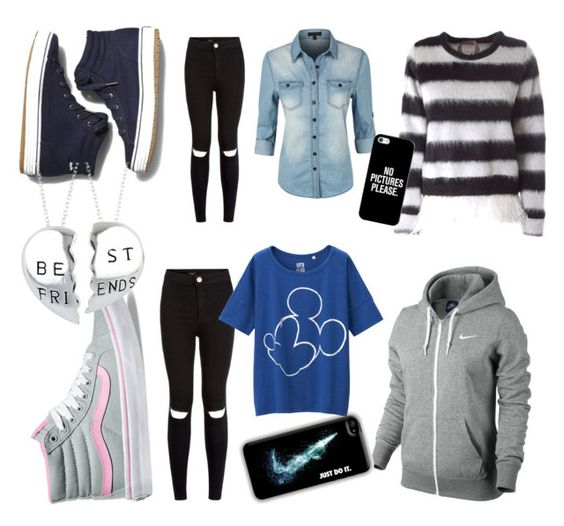 """Untitled #24"" by roxana20 on Polyvore featuring Vans, NIKE, Keds, N°21, LE3NO, Casetify and Uniqlo"