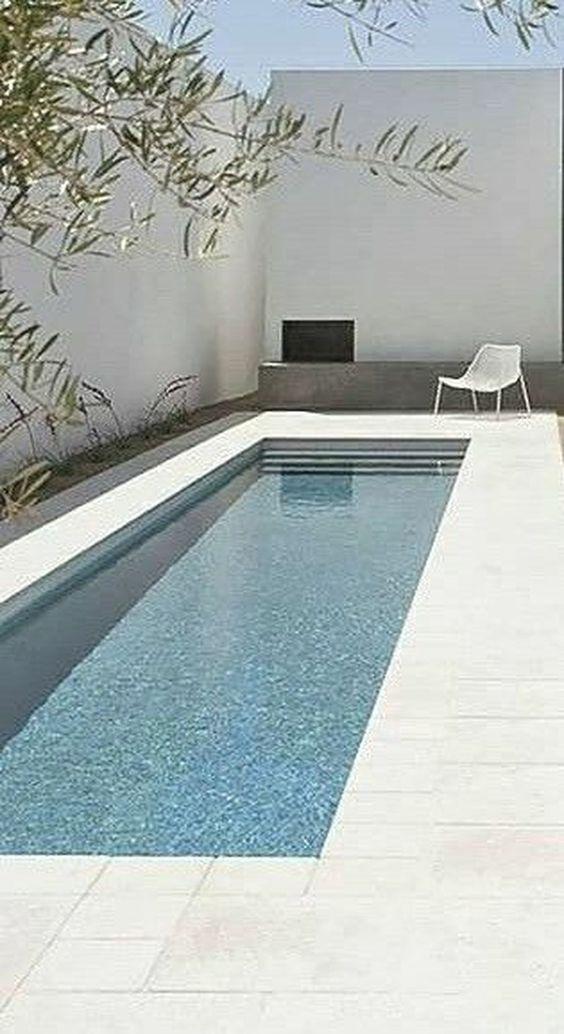 Rectangular Swimming Pool Ideas 20 Simple Designs For Minimalist Home Small Pool Design Cool Swimming Pools Small Backyard Pools