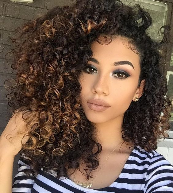 Hairstyles For Biracial Women Girl Hair Colors Curly Girl