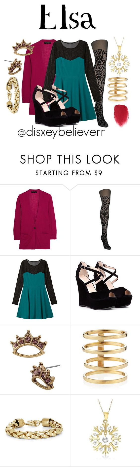 Elsa by disneybelieverr on Polyvore featuring Forever 21, Isabel Marant, Betsey Johnson, Lana, BCBGMAXAZRIA, Allurez and Anna Sui