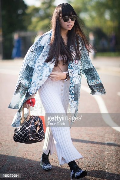 Susi Bubble during London Fashion Week Spring/Summer 2016/17 on September 20, 2015 in London, England.
