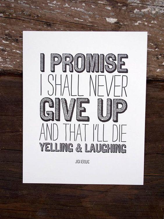 i promise. letterpress print. $18