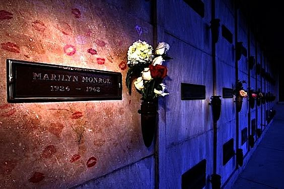 Marilyn Monroe's eternal rest - her crypt at Westwood Village Memorial Park.