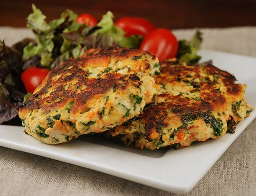 Sweet Potato and Kale Chicken cakes