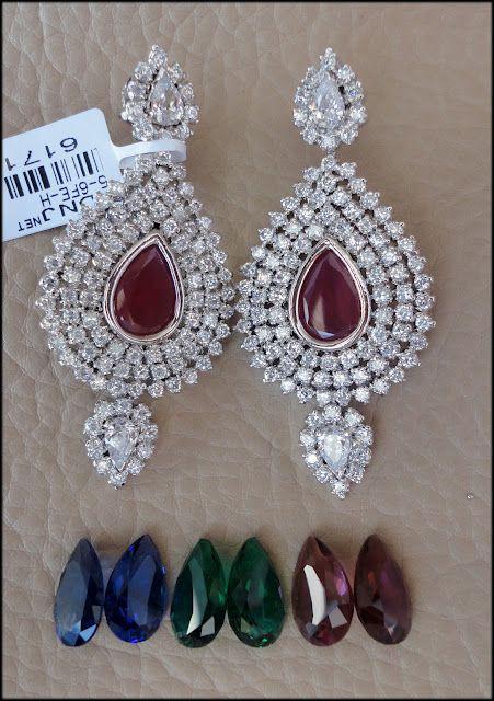 Great idea to change stones for these lovely Earrings! http://www.facebook.com/khushrang