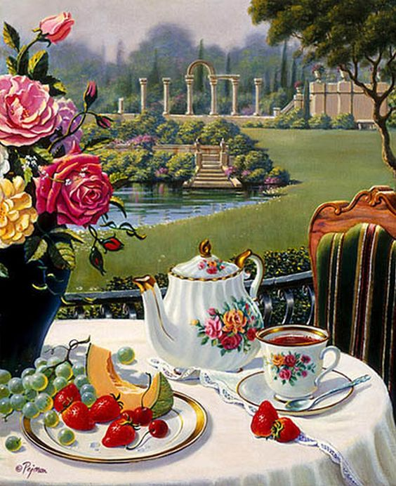 """Tea at the Italian Garden"" Artist: Bob Pejman"