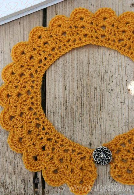 Crochet Collar by Emma@Lululoves, via Flickr