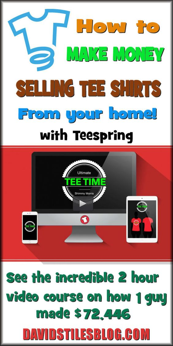 How to make money from home and tee shirts on pinterest for Create t shirts to sell