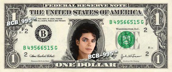 Michael Jackson on REAL Dollar Bill - $1 Celebrity Bill Custom Cash Money