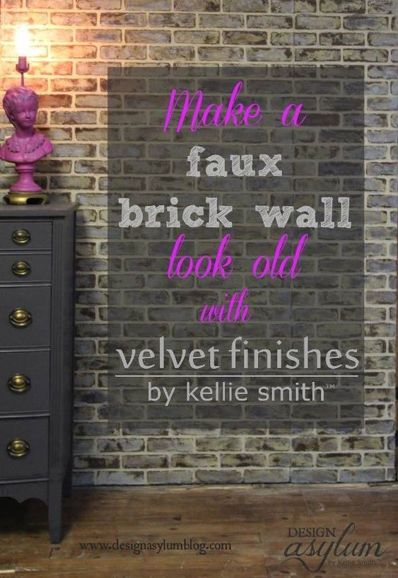 Diy Making Faux Brick Walls Look Old Brick Paneling