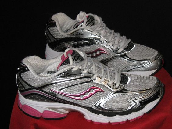Womens Saucony ProGrid Guide 4 Running Shoes Sz 9.5  Pink/Blk/Silver medium B #Saucony #Running