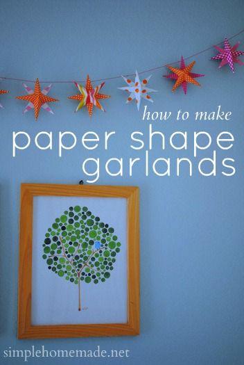 paper shape garlands