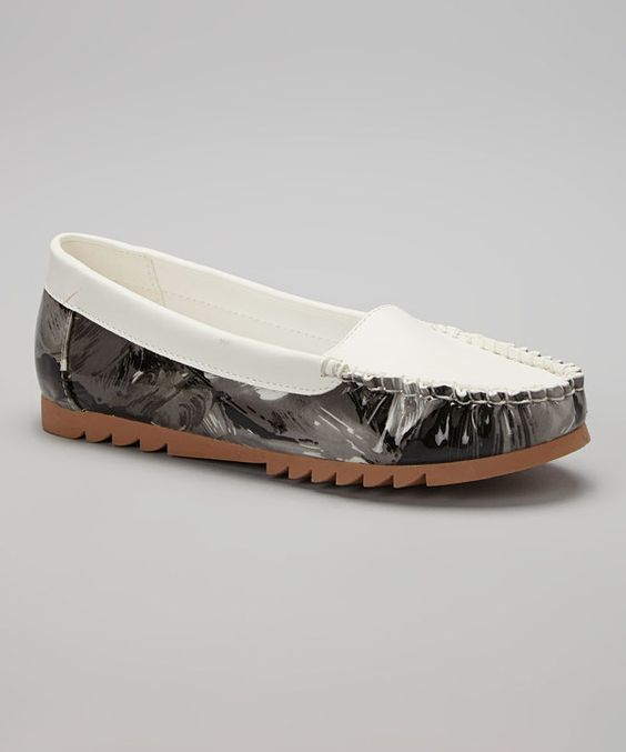 Look at this White Abstract Loafer on #zulily today!