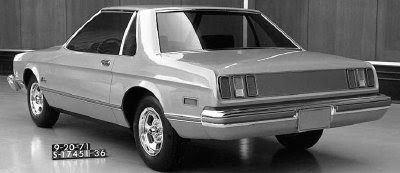 OG | 1974 Ford Mustang Mk2 Notchback | Full-size clay model designed Sep. 1971