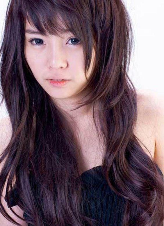 Terrific Asian Woman Bangs And Long Haircuts On Pinterest Short Hairstyles Gunalazisus